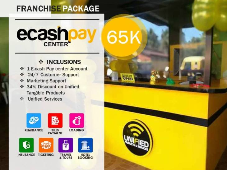 Ecash Pay centger franchise Business Partner Unified Products and Services Negosyo Business franchising online home based Philippines main office official website